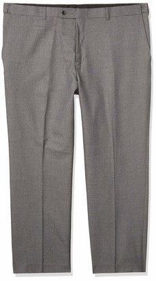 Alexander Julian Colours Men's Big and Tall Flat Front Hemmed Suit Separate Pant with Adjustable Waist