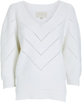 Brochu Walker Decker V-Neck Cotton-Blend Sweater