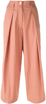 Forte Forte pleated cropped trousers - women - Cotton - I