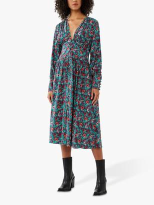 Ghost Joss Floral Midi Dress, Multi