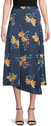 Laundry by Shelli Segal Asymmetrical Floral Skirt