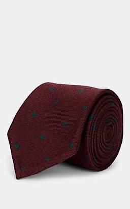 Melange Home Bigi Men's Polka Dot Wool Necktie - Red