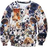 Snlydtan Women Men Cute Dog Doge Family Sweatshirt Hoodies Clothing XL
