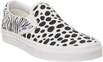 Vans Classic Slip Ons Animal Print Classic White Black Exclusive