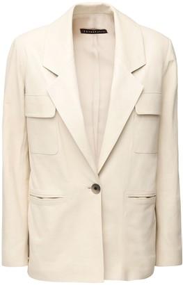 ZEYNEP ARCAY Leather Suit Jacket