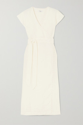 Marysia Swim Watermill Linen Wrap Dress - White