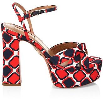 Aquazzura Baba Printed Platform Sandals