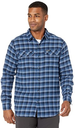 Columbia Flare Gun Stretch Flannel (Night Tide Grid Plaid) Men's Long Sleeve Button Up