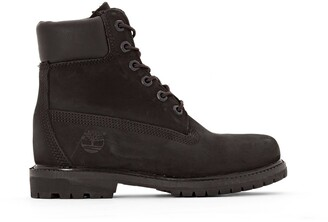 Timberland Premium Leather 6-Inch Lace-Up Boots