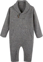 Andy & Evan Shawl-Collar Toggle Coverall, Size 3-24 Months