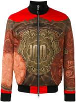 Givenchy baroque print bomber jacket