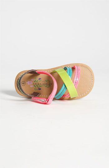 Laura Ashley 'Neon' Sandal (Walker & Toddler)