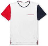 Thom Browne Slim-Fit Tricolour Cotton-Jersey T-Shirt