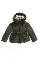 Burberry Girl's 'Janie' Hooded Down Jacket
