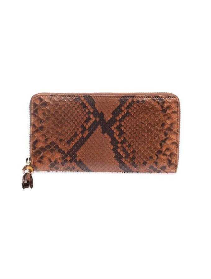 Gucci Python continental wallet