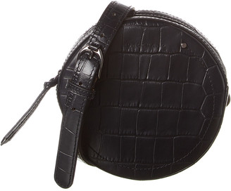 Longchamp Small Croc-Embossed Leather Belt Bag