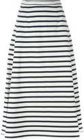 Alexander Wang striped A-line skirt - women - Cotton - M