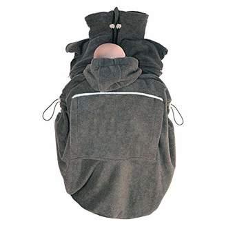 Hoppediz Basic Fleece Cover for Baby Slings and Baby Carriers (Anthrazit)