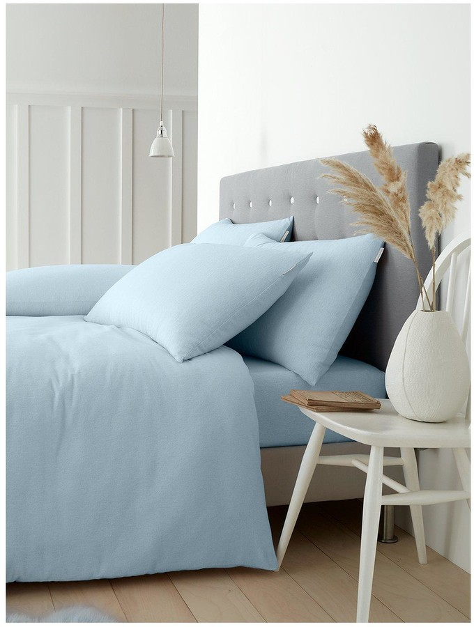 Catherine Lansfield Soft N Cosy Brushed, Catherine Lansfield Blue Newquay Stripe Bedding Set Double