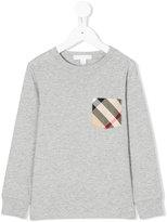 Burberry checked chest pocket sweatshirt - kids - Cotton - 4 yrs