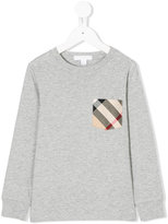 Burberry checked chest pocket sweatshirt - kids - Cotton - 5 yrs