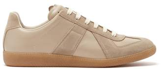 Maison Margiela Replica Suede-panel Leather Trainers - Mens - Beige