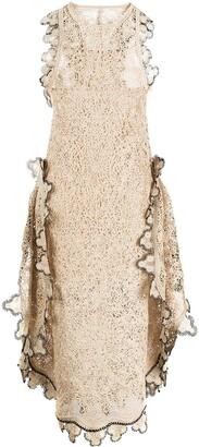 Stella McCartney Scalloped-Edge Woven Dress
