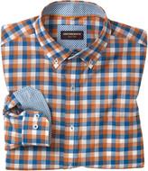 Johnston & Murphy Square Check Button-Down Collar Slub Shirt
