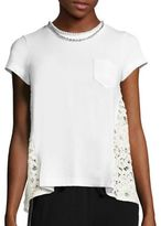 Sacai Pearl Lace-Back Pocket Tee
