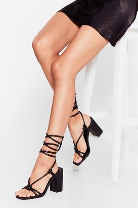 Nasty Gal Womens Heel the Love Strappy Block Heels - Black - 5, Black