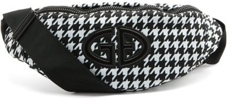Goldbergh Velia Houndstooth Belt Bag - Black White