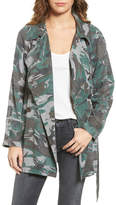 Pam & Gela Camo Trench Coat
