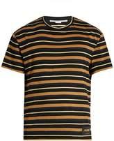 Stella McCartney Crew-neck striped cotton T-shirt