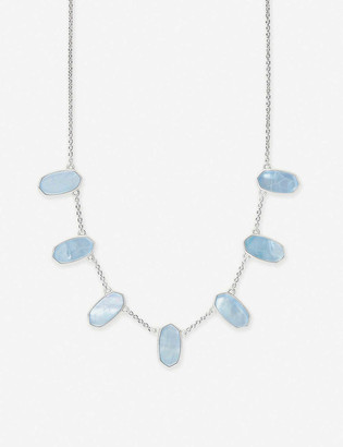 Kendra Scott Meadow silver-plated and mother-of-pearl necklace