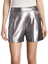 Halston Metallic Lamb Suede Shorts