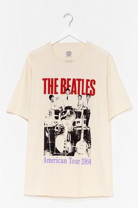 Nasty Gal Womens The Beatles Plus Graphic Tee - Beige - 18-20