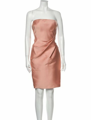 J. Mendel Strapless Mini Dress Pink
