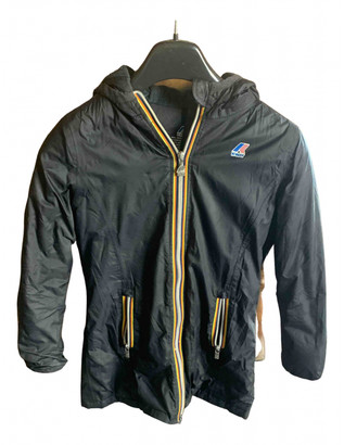 K-Way Black Synthetic Jackets & Coats