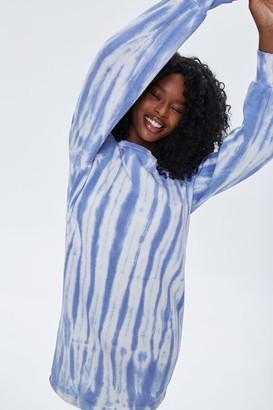 Forever 21 Tie-Dye Sweatshirt Dress
