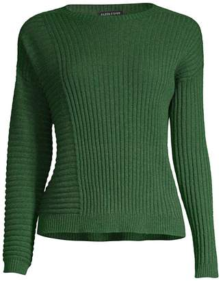 Eileen Fisher Patchwork Cashmere Sweater