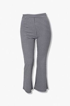 Forever 21 Plus Size Houndstooth Flare Pants