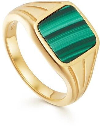 Missoma Lucy Williams Malachite Square Gold Signet Ring