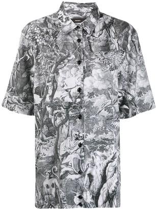 Diesel Divine Comedy print shirt