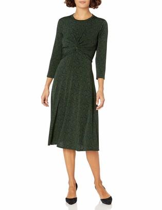 Donna Morgan Women's Petite Stretch Knit Jersey Twist Front Dress