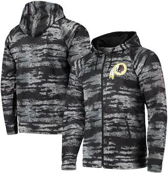 Redskins Unbranded Men's Zubaz Black Washington Tonal Oxide Full-Zip Hoodie