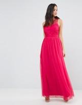 Little Mistress Embellished Pleat Detail Maxi Dress