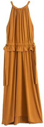 Proenza Schouler Sleeveless Cinched Dress in Tobacco