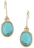 Anne Klein Faceted Turquoise Drop Earrings