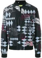 Versace tropical print bomber jacket