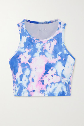 YEAR OF OURS Claudia Tie-dyed Stretch Sports Bra - Blue